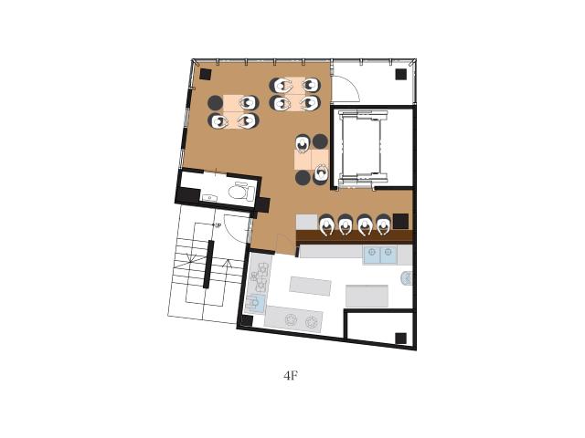 居抜き店舗物件「駒込4階」